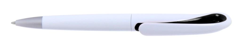"""1011A-1(1011C-1a) B 1011A """"Капля"""" Ручка пластиковая с поворотным механизмом, цвет бело-чёрный"""
