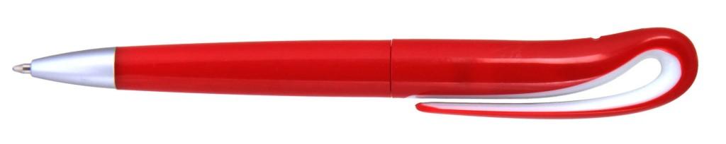 """1012С  1012С-1 """"Капля"""" Ручка пластиковая с поворотным механизмом, цвет чёрно-белая"""