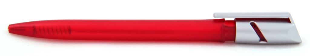 """1013 """"Железная маска"""" Ручка пластиковая с поворотным механизмом, цвет красно-серый, купить пластиковые ручки в Кривом Рогу, ручки с печатью в Кривом Рогу, печать на ручках , ручки с логотипом Кривой Рог"""