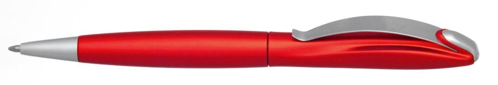 """В 1031B  """"Муравей"""" Ручка пластиковая с поворотным механизмом, цвет красный, купить пластиковые ручки в Бердянске, ручки с печатью в Бердянске, печать на ручках , ручки с логотипом Бердянск"""