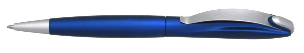 """В 1031B  """"Муравей"""" Ручка пластиковая с поворотным механизмом, цвет синий купить пластиковые ручки в Донецке, ручки с печатью в Донецке, печать на ручках , ручки с логотипом Донецк"""