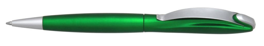 """В 1031B  """"Муравей"""" Ручка пластиковая с поворотным механизмом, цвет зелёный купить пластиковые ручки в Мариуполе, ручки с печатью в Мариуполе, печать на ручках , ручки с логотипом Мариуполь"""