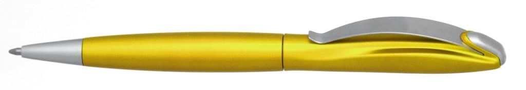 """В 1031B  """"Муравей"""" Ручка пластиковая с поворотным механизмом, цвет Жёлтый, купить пластиковые ручки в Марганце, ручки с печатью в Марганце, печать на ручках , ручки с логотипом Марганец"""
