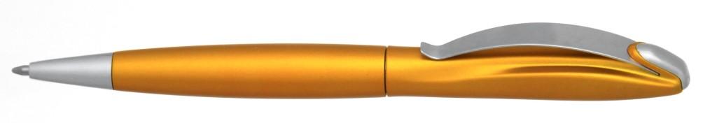 """В 1031B  """"Муравей"""" Ручка пластиковая с поворотным механизмом, цвет оранжевый, купить пластиковые ручки в Нежине, ручки с печатью в Нежине, печать на ручках , ручки с логотипом Нежин"""