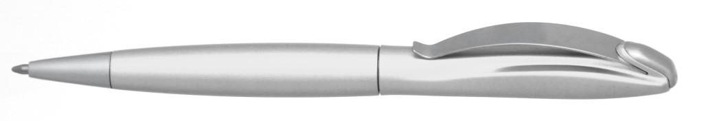 """В 1031B  """"Муравей"""" Ручка пластиковая с поворотным механизмом, цвет белый, купить пластиковые ручки в Днепродхержинске, ручки с печатью в Днепродзержинске, печать на ручках , ручки с логотипом Днепродзержинск"""
