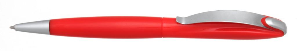 """В 1031C """"Муравей"""" Ручка пластиковая с поворотным механизмом, цвет красный, купить пластиковые ручки в Энергодаре, ручки с печатью в Энергодаре, печать на ручках , ручки с логотипом Энергодар"""