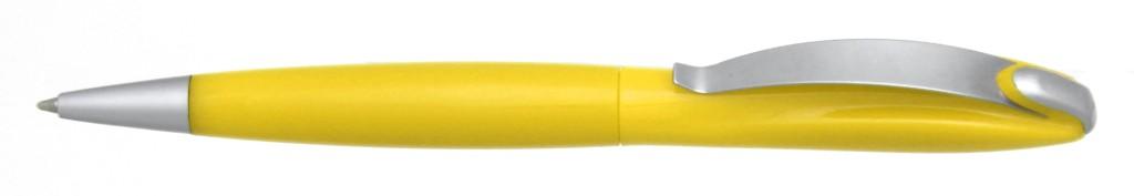 """В 1031C """"Муравей"""" Ручка пластиковая с поворотным механизмом, цвет жёлтый, купить пластиковые ручки в Алчевске, ручки с печатью в Алчевске, печать на ручках , ручки с логотипом Алчевск"""