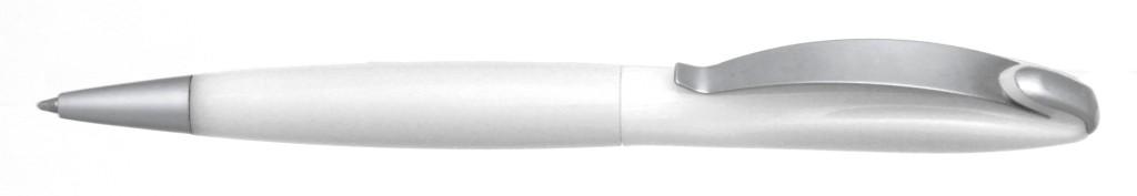 """В 1031C """"Муравей"""" Ручка пластиковая с поворотным механизмом, цвет белый, купить пластиковые ручки в Житомире, ручки с печатью в Житомире, печать на ручках , ручки с логотипом Житомир"""