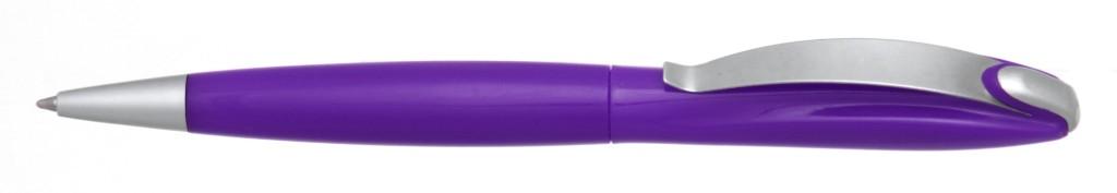 """В 1031C """"Муравей"""" Ручка пластиковая с поворотным механизмом, цвет фиолетовый, купить пластиковые ручки в Армянске, ручки с печатью в Армянске, печать на ручках , ручки с логотипом Армянск"""