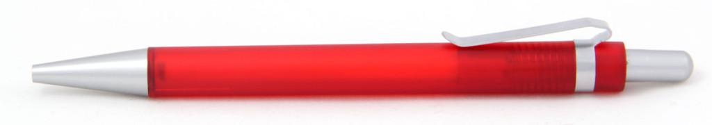 В 1535  Ручка пластиковая шариковая автоматическая с кнопкой, цвет красно-серый, купить пластиковые ручки в Новомиргороде, ручки с печатью в Новомиргороде, печать на ручках , ручки с логотипом Новомиргород
