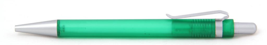 В 1535  Ручка пластиковая шариковая автоматическая с кнопкой, цвет зелёно-серый, купить пластиковые ручки в Борисполе, ручки с печатью в Борисполе, печать на ручках , ручки с логотипом Борисполь