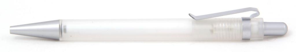 В 1535  Ручка пластиковая шариковая автоматическая с кнопкой, цвет бело-серый, купить пластиковые ручки в Токмаке, ручки с печатью в Токмаке, печать на ручках , ручки с логотипом Токмак