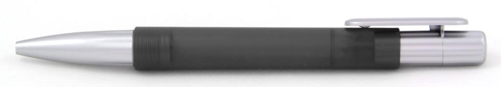 В 1551А Ручка пластиковая шариковая автоматическая с кнопкой, цвет чёрно-серый, купить пластиковые ручки в Севастополе, ручки с печатью в Севастополе, печать на ручках , ручки с логотипом Севастополь
