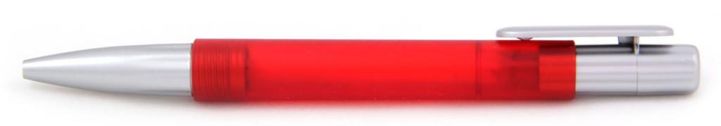 В 1551А Ручка пластиковая шариковая автоматическая с кнопкой, цвет красно-серый, купить пластиковые ручки в Симферополе, ручки с печатью в Симферополе, печать на ручках , ручки с логотипом Симферополь