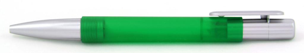 В 1551А Ручка пластиковая шариковая автоматическая с кнопкой, цвет зелёно-серый, купить пластиковые ручки в Ялте, ручки с печатью вЯлте, печать на ручках , ручки с логотипом Ялта