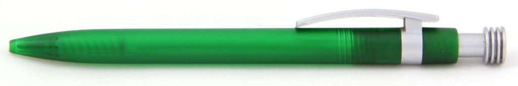 В 1630 Ручка пластиковая шариковая автоматическая с кнопкой, цвет зелёно-серый, купить пластиковые ручки в промозп, ручки с печатью в промозп, печать на ручках , ручки с логотипом промозп