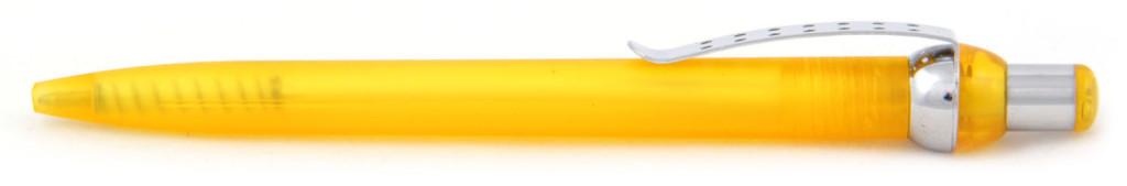"""В 1655 """"Горошина"""" Ручка пластиковая шариковая автоматическая с кнопкой, цвет оранжево-серебристая, купить пластиковые ручки Кача , ручки с печатью Кача, печать на ручках Кача , ручки с логотипом Кача"""
