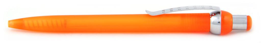 """В 1655 """"Горошина"""" Ручка пластиковая шариковая автоматическая с кнопкой, цвет оранжево-серебристая, купить пластиковые ручки  , ручки с печатью , печать на ручках  , ручки с логотипом"""