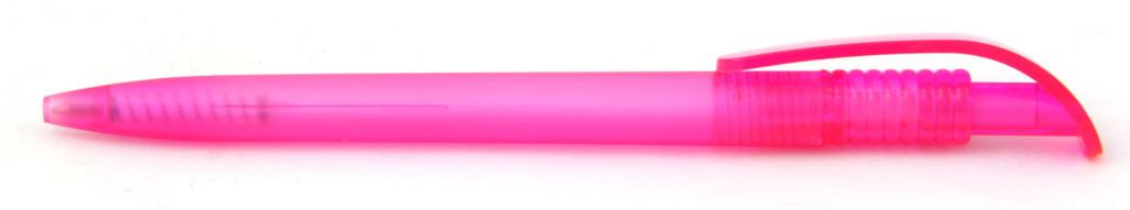 1729-12 В 1729 ручка пластиковая автоматическая, ммеханизм - кнопка, цвет матовый розовый