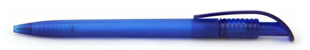 В 1729В 1729 Ручка пластиковая шариковая автоматическая клип-кнопка, цвет матовый синий, пластиковые ручки, ручки с логотипом