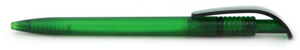 В 1729 Ручка пластиковая шариковая автоматическая клип-кнопка, цвет матовый зелёный, пластиковые ручки, ручки с логотипом
