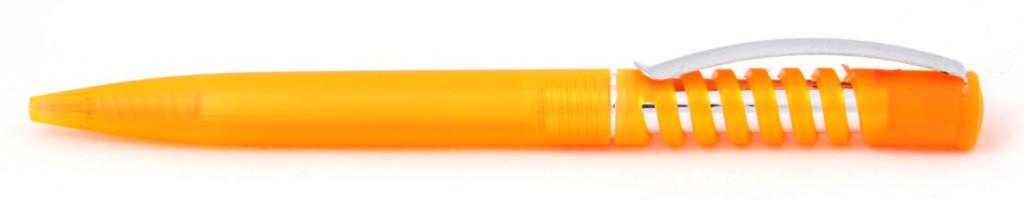 """1840-06 В 1840В  ручка пластиковая """"Спираль"""" автоматическая с кнопкой, печать на ручках, ручки с логотипом, агитационные ручки"""