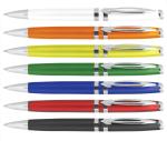 B-3501 Пластиковые рчки с металлическим клипом, логотипирование ручек, ручки для рекламной акции, дешовые ручки