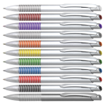 B-5204A Ручки пластиковые автоматические, ручки с логотипом, нанаесение логотипа на ручки, брендирование пишущих принадлежностей