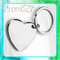 BR0440 брелок металлический в форме сердца под граверовку