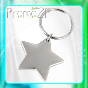 BR0450 брелок металлический в форме звезды