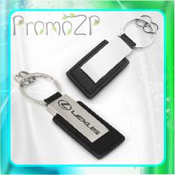 BR1310L  брелок металл кожа под граверовку брелок ключник