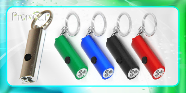 LD1030 брелок фонарик с тремя свето диодами LED  на батарейке пластиковый под нанесение логотипа