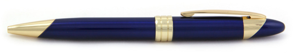 701М-3 B 701М-8 Ручка металлическая, с поворотным механизмом, синяя с золотом,ручки под граверовку,брендированные ручки
