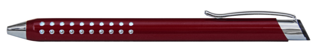 9374M-10 B 9374M Ручка металлическая, автоматическая, бордовый с серебром, металлические ручки, ближайшие выставки