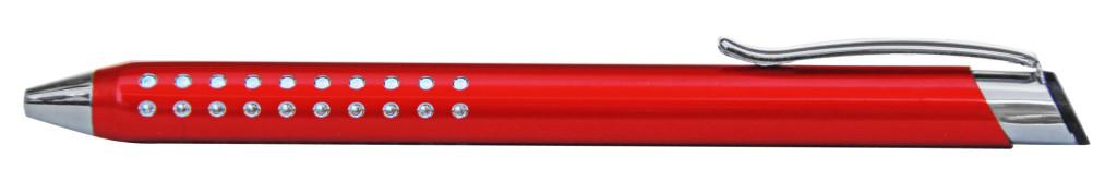 9374M-2 B 9374M Ручка металлическая, автоматическая,Красный с серебром, dremel, гравер