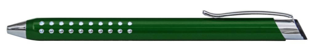 9374M-4 B 9374M Ручка металлическая, автоматическая, зелёныйс серебром, dremel, гравер