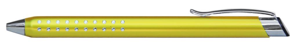 9374M-5 B 9374M Ручка металлическая, автоматическая,жёлтый с серебром, dremel, гравировка харьков