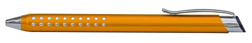 9374M-6 B 9374M Ручка металлическая, оранжевый, серый с серебром, гравировка фото, гравировка харьков