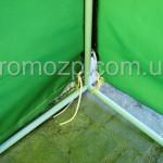 палатка для торговли тент с молниями на задней стене, завязки для закрепления тента торговой палатки на крркасе promozp.com.ua