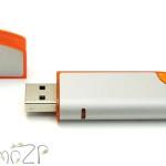 P22 Флешки пластиковые по печать, с олпачком и цветными вставками, печать логотиа на флешках
