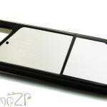 P17 флешка в цветной обрамке, с серебристым полем под печать, USB накопители с колпачком