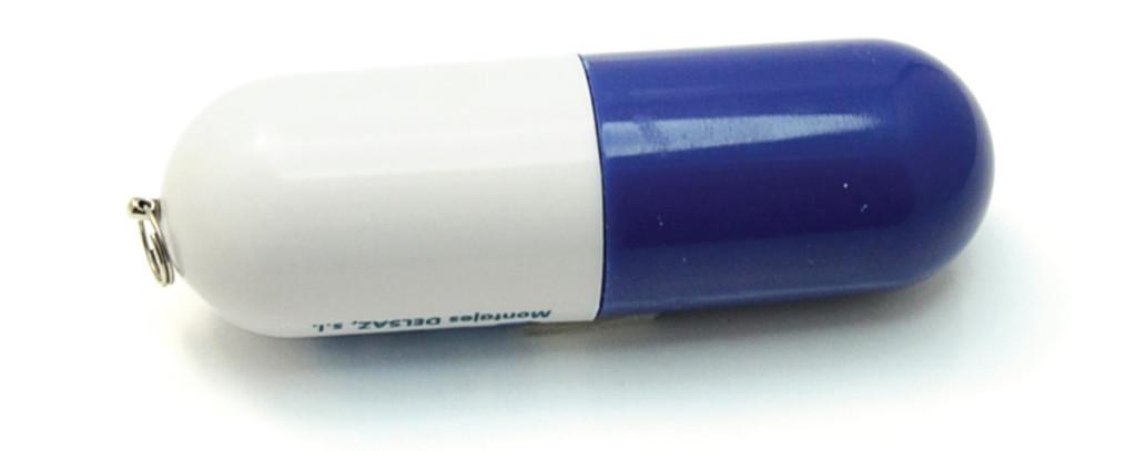 P20 флешка капсула, флешка в пластиковом двухцветном корпусе, флешка для брендирования
