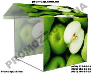 торговая палтка с печатью яблоки, палатка для торговли фркутами, овощи фрукты палатка